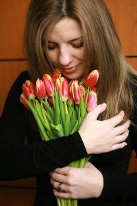 otrzymane tulipany